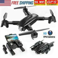 SNAPTAIN GPS FPV Drone HD Camera 5G WiFi RC Quadcopter GPS Auto Return 2 Battery $63.99
