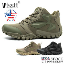 Men#x27;s Army Military Combat Boots Waterproof Walking Hiking Tactical Work Shoes $44.99