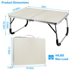 Small Folding Table Portable Foldable Table Lightweight Aluminum Camping Table $20.69