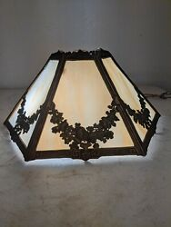 Antique Slag Stained glass lamp shade $250.00
