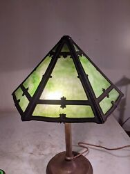 Antique Slag Stained Glass Lamp shade $299.00