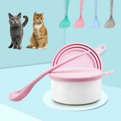 Supplies Puppy Kitten Dog Food Scoop Food Can Lid Seal Cover Cat Feeding Shovel C $4.35