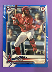 2021 BOWMAN JO ADELL ROOKIE PAPER BLUE NON AUTO #10 RC 95 150 ANGELS $19.99