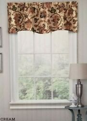 Traditions by Waverly Tennyson Valance Cream floral 52quot; W x 16 long $18.99
