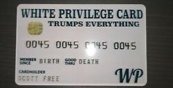 10PCS White Privilege Card Gag Novelty Wallet Size Collectable Laminated Gift $10.00
