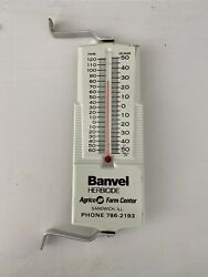 """VTG Banvel Herbicide Agrico IL. Advertising thermometer Sign Works 6"""" Metal Nice $15.00"""