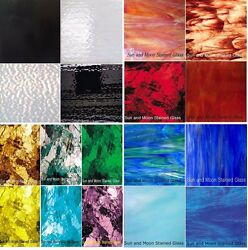 Mosaic Glass or Stained Glass sheets 4quot;x6quot; Variety packs Free Shipping $16.90