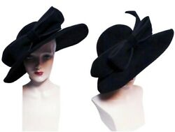 Jack McConnell Hat Femme Fatale Red Feather Label One Of A Kind $325.00