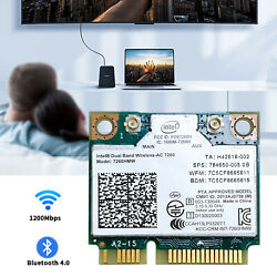 Intel Dual Band Wireless AC 7260HMW Network Card Mini PCIE Wifi Adapter For HP $9.99