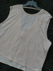NWT CHAMPION XXL 2XL Active Wear Top Back Strap W Deep VNeck Duo Dry $15.00