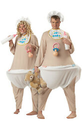 Brand New Adult Men Funny Cry Baby Halloween Couple Costume $25.13