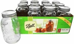 Ball Mason Jar 12CT Case Regular Mouth Quart LOCAL PICK UP ONLY NOT SHIPPED $12.99