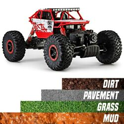 RC Cars 4WD Rock Crawler Truck 1:18 Off Road Remote Control Crawler Buggy RTR $26.99