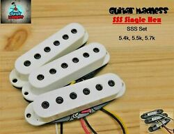 G.M. Single Hex Single Coil Set White with Black Fully Adjustable Poles $24.95