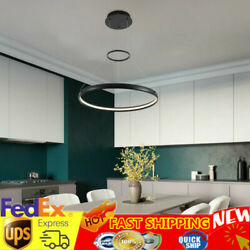 LED Chandelier Dining room Pendant Hanging Lamp Round Ring Ceiling Light USA $67.01