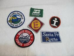 Vtg 6pc Mixed Lot Railroad Transportation Patches Gently Used $9.99