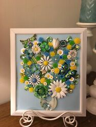 Vintage and Contemporary jewelry art framed $68.00