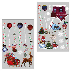 1 Sheet Christmas Theme Wall Stickers Decoration Adorable Window Stickers $8.60