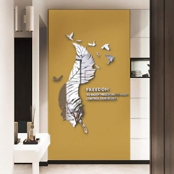 Doeean Feathers and Birds 3D Wall Decor Wall Decals Wall Decorations Wall Sticke $28.99