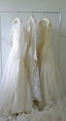 Vintage Wedding Dress Lot of 3 1950s As Is Lot Resell $124.00