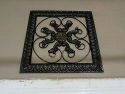 decoration home wall metal Approximately 8 x 10 no damage very detailed $17.00