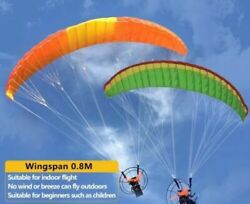 81cm RC Electric Paraglider kit Outdoor Mini Flight Parachute Stunt Flying Toy $98.99
