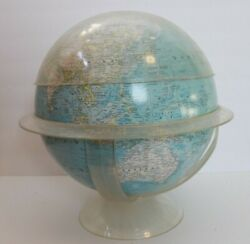 Vintage National Geographic World Globe with Acrylic Stand 1961 $39.99