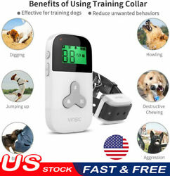 Remote Dog Shock Training Collar Rechargeable Waterproof LCD Pet Trainer $15.99
