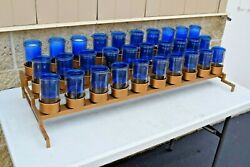Nice Votive Candle Stand for 30 Blue Lights CU451 chalice co. $179.00