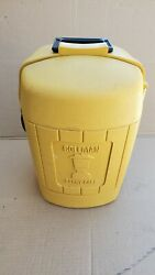 Vintage Coleman Yellow Clam Shell Lantern Case dated 3 82 $35.00