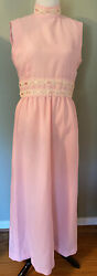 Pretty Pink Vintage Special Occasion Dress With Ribbons And Pearls Details $18.99