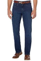 New Urban Star Men#x27;s Relaxed Fit Jeans Straight Leg Stretch Blue 40 X 34 $34.99