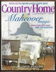 Country Home Magazine October 2000 Makeover Magic Home Decorating $10.00