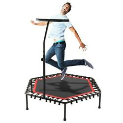 NEW Mini Foldable Trampoline With Bar Urban Rebounder Bouncing Exercise Yoga Gym $79.99