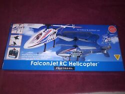 Protocol FalconJet RC Helicopter 3 Channel with Remote Control #7858 6 NIB $25.00
