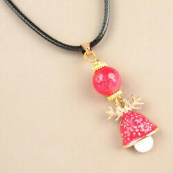 4Strand Tibetan Gold Red Drops Of Oil Christmas Mushroom Openable Necklace 17.5quot; $8.57