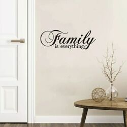 Family is everything Inspirational Wall Sticker living room bedroom for Home $5.63