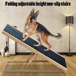 Foldable Non Slip Pet Ramp Ladder for Small to Large Dog for Car Sofa Bed 2 Size $52.99