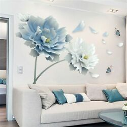 Removable Flower Lotus Butterfly Wall Stickers 3D Wall Art Decals Home Decor US $11.27