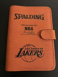 NEW Spalding Official Game Ball Lakers NBA 6 Ring Day Planner Organizer $30.00