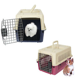 Kariyer Small Dog Cat Crate Plastic Pet Carrier Kennel Airline Travel Tote Cage $34.99
