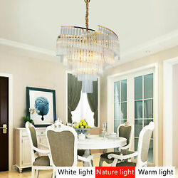Gold Pendant Chandelier Hanging Lamp Crystal Lighting Fixture for Dining Room $296.42