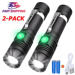 2PACK 20000lm LED Flashlight Rechargeable USB T6 LED Torch Light Lamps Battery $13.59