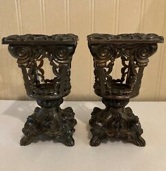 vintage pair table candle sconces hong kong $16.00