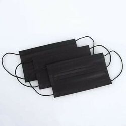 KIDS 50 Pcs Disposable Face Mask 3 Ply Non Medical Children Mouth Cover Black $8.99