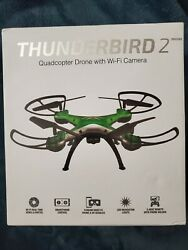 SKY RIDER THUNDERBIRD 2 QUADCOPTER DRONE WITH WI FI CAMERA GREEN DRW330GN $46.99