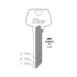 ILCO Fits for 01007LA Sargent Commercial Key Blank S22 SAR 7 10 Pack