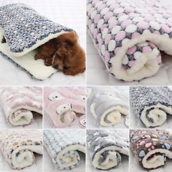 Puppy Pet Blanket Cat Dog Bed Kennel Comfy Soft Large Crate Pad Mattress Mat $10.82