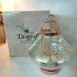 GREAT AMERICAN GLASS amp; COPPER DRAGONFLY HANGING LANTERN NEW IN BOX $22.95