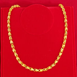 Solid lantern chain 23K 24K Thai Baht Gold Filled Yellow GP Necklace $39.99